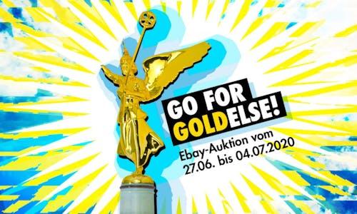 #Go For Goldelse: Rave The Planet versteigert die Siegessäule