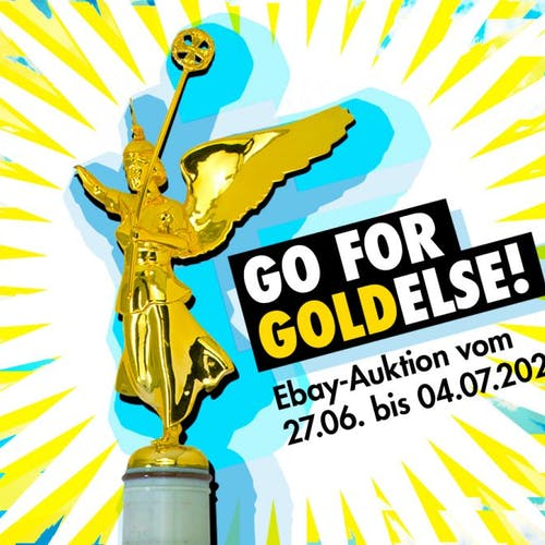 Go for Goldelse: Rave The Planet versteigert die Siegessäule
