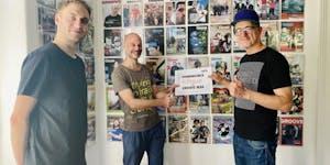 #Go For Goldelse - Übergabe des Spendenschecks an das GROOVE Magazin